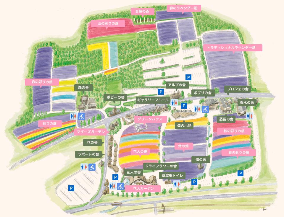 富田農場的館內地圖