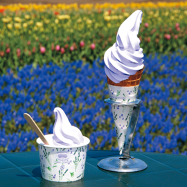 Lavender soft-serve ice cream