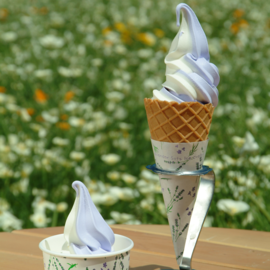 Lavender & vanilla soft-serve ice cream